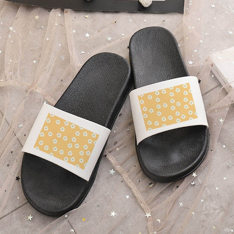 Shoes For Women Summer Indoor Slippers Bathroom Home Slides flower Flat Beach sandals Anti-Slip filp
