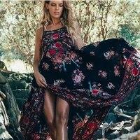 retro vintage print boho dress summer 2021 women sleeveles etehnic sexy dress robe vestido mujer hippie beach dress