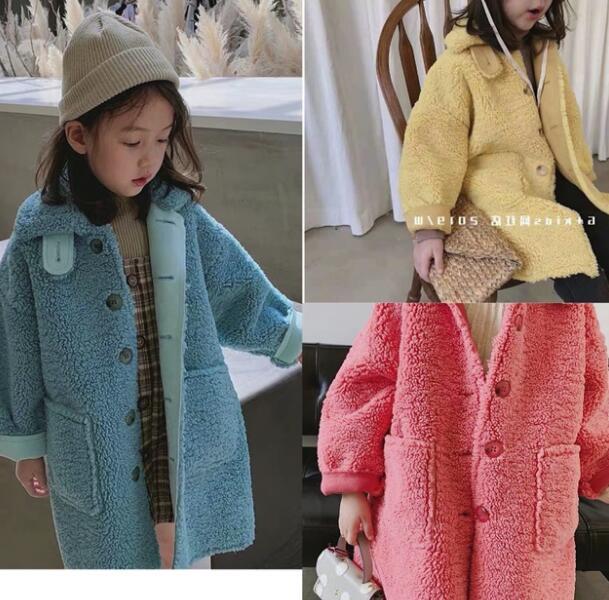 معطف شتوي من الدنيم للفتيات الصغيرات ، جاكيت مخملي دافئ ، فرو حقيقي ، ملابس خارجية ، للأطفال من سن 1 إلى 5 سنوات ، 2019