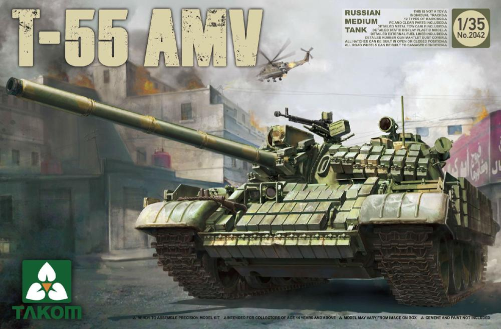 Takom 1/35 2042 Russian Medium Tank T-55AMV