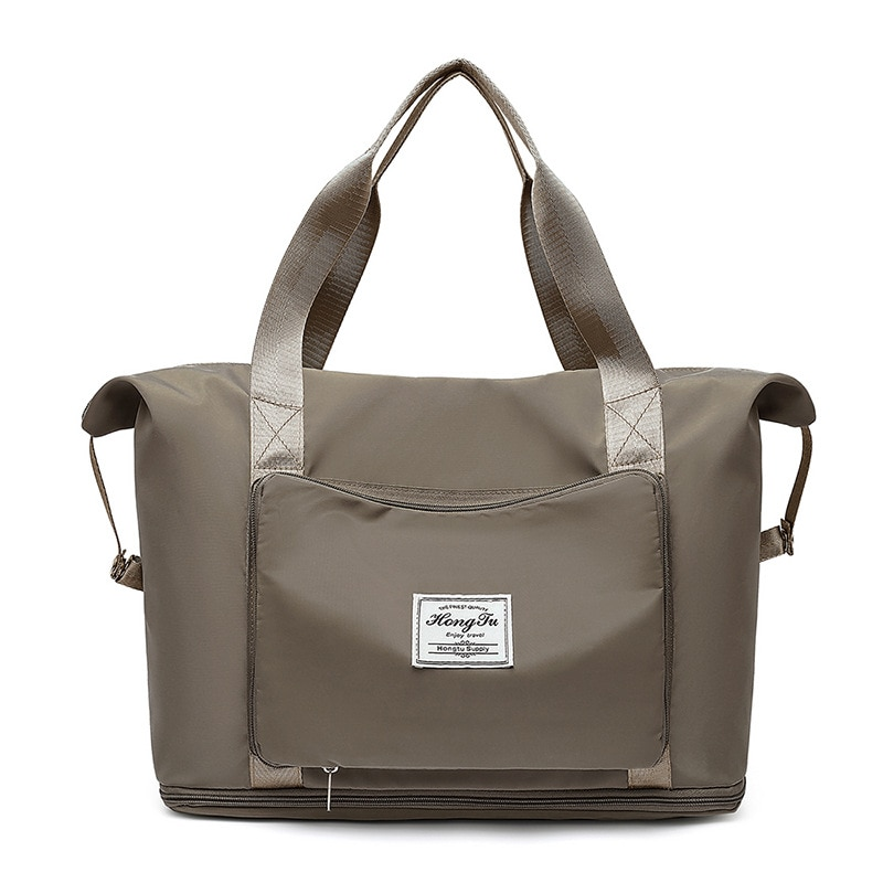 2021New Travel Bag Women Expandable Big Bag Waterproof Nylon Shoulder Bag Clothes Duffel Dry Wet Separation Handbag Gym Yoga Bag