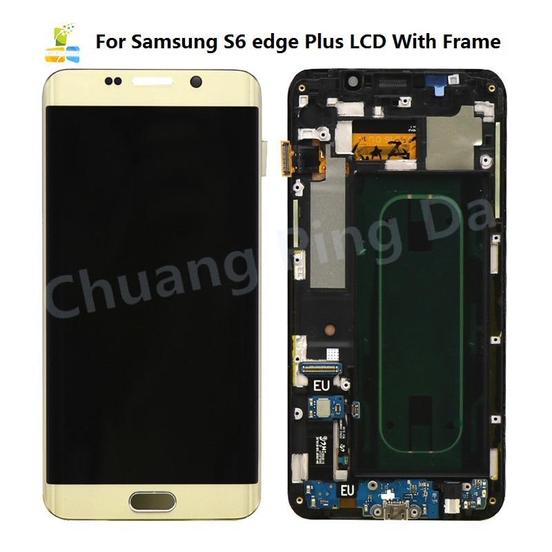 Para Samsung S6 EDGE Plus G928 G928F G928A G928G G928U G928C G928S G928V LCD pantalla táctil digitalizador montaje reemplazo