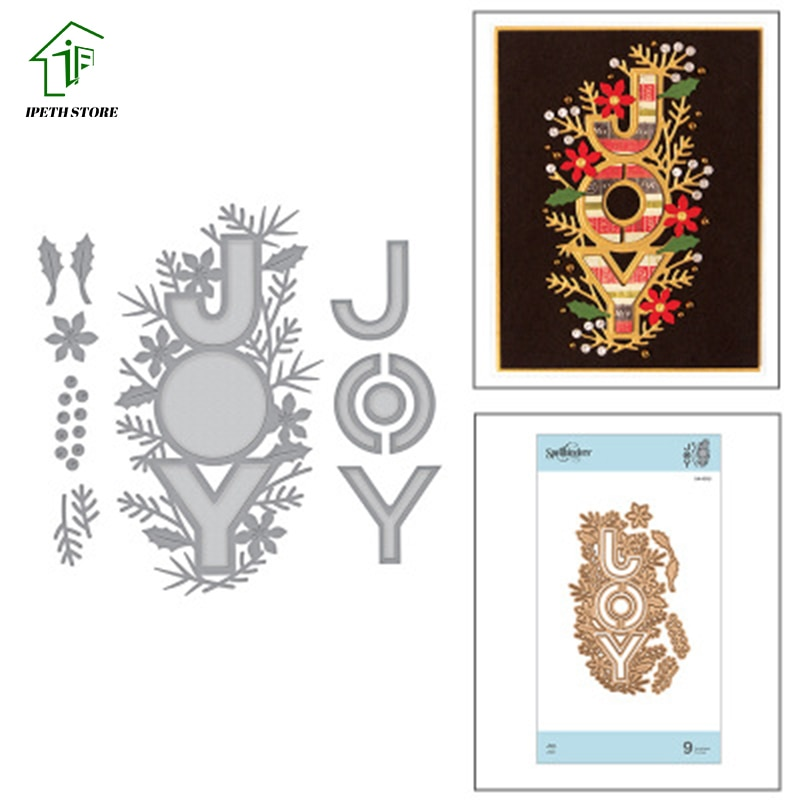 Joy word cutout lace Metal Cutting Dies Scrapbook Paper Craft Decoration dies scrapbooking 2020 New
