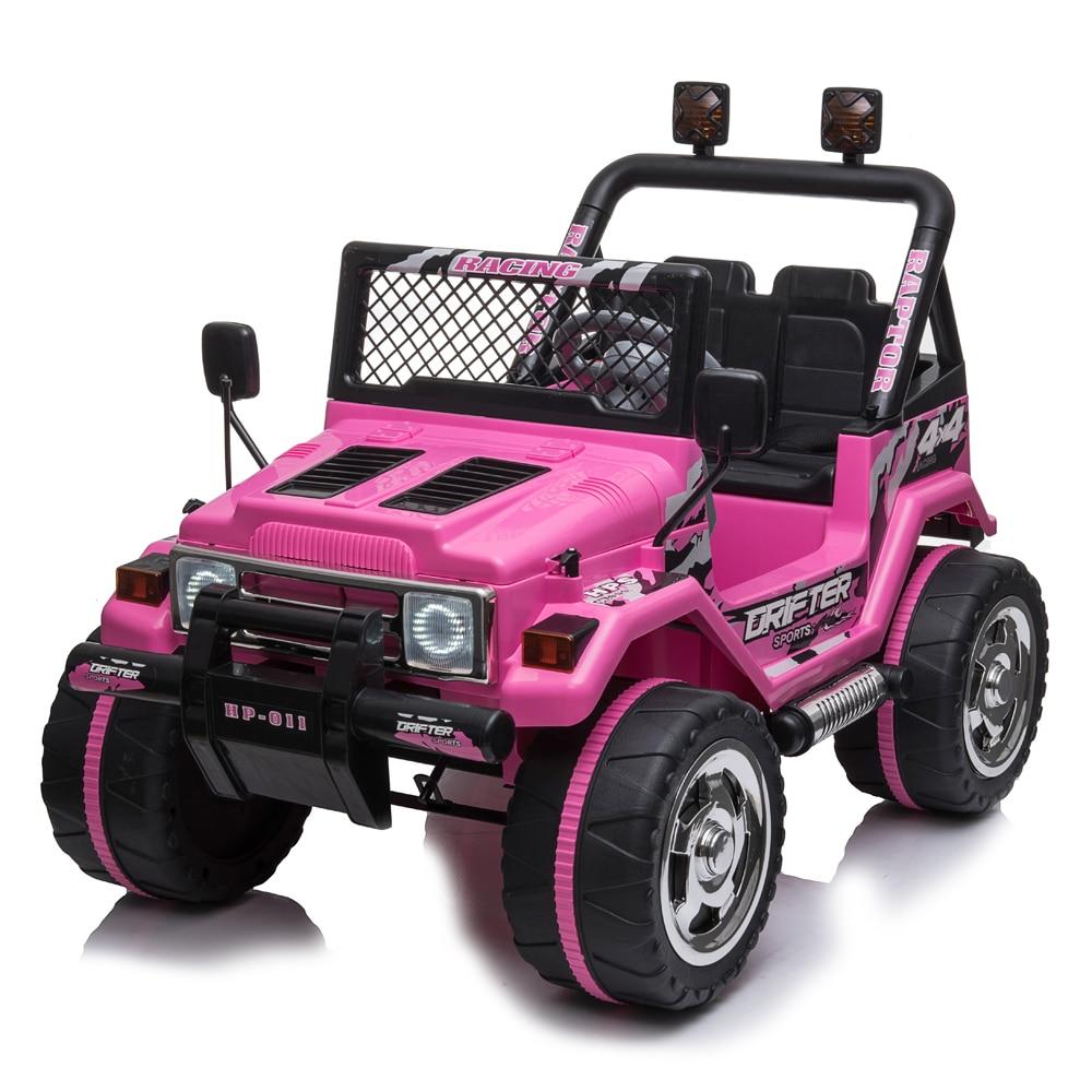 Enfants jouet voiture petit Jeep voiture jouet Double entraînement avec 2.4G télécommande chargeur avec lumière pour enfants nouvel an cadeau de noël