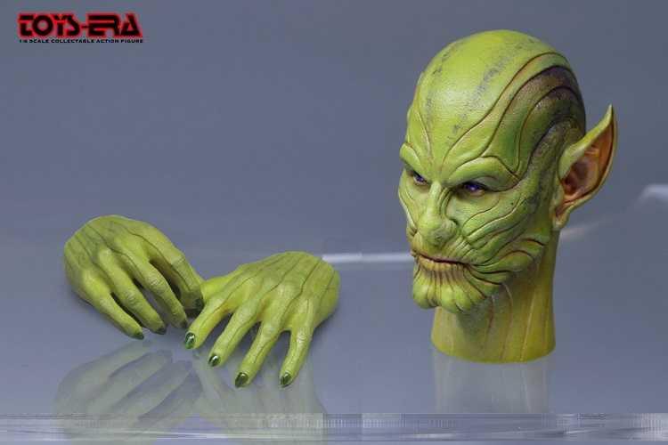 "1/6 TOSY ERA 026 Skrull Talos cabeza modelo juguetes caben 12 ""cuerpo de figura de acción"
