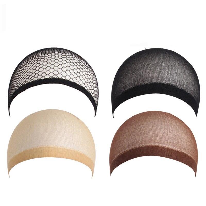 8 pçs/set nova moda tecelagem boné elástico elástico peruca net os dois lados opensnood peruca tampão rede de cabelo malha