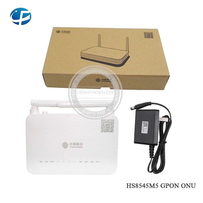 Envío gratis 3pc 1g un wifi ont gpon hua wei HS8545M5 GPON ONU ONT con 1GE + 3FE + 1TEL + USB + Wifi China logotipo móvil
