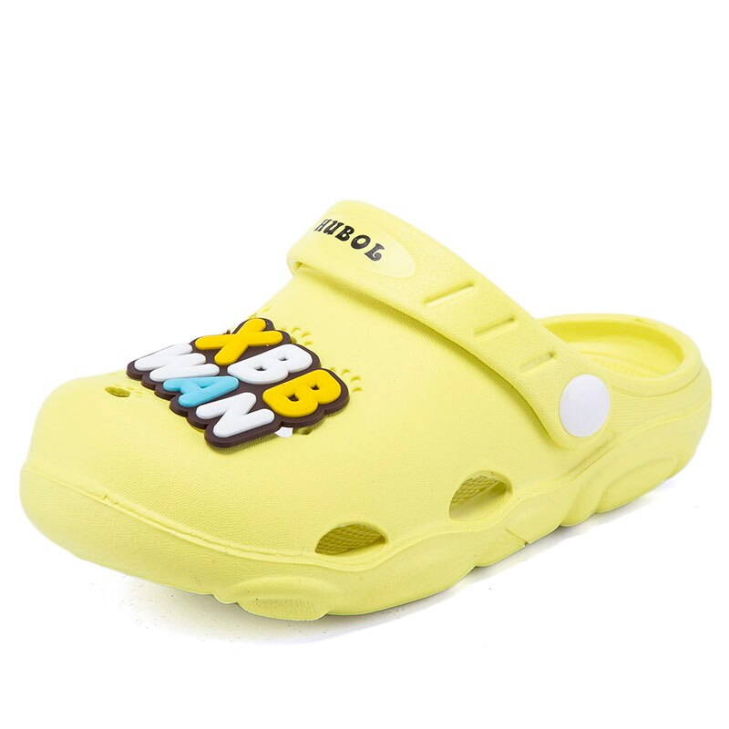 2021Summer Kids Croc  for Boys Girls Solid Light Non Slip Children Garden Shoes Toddler Indoor Home Beach Slippers Sandals0912-3