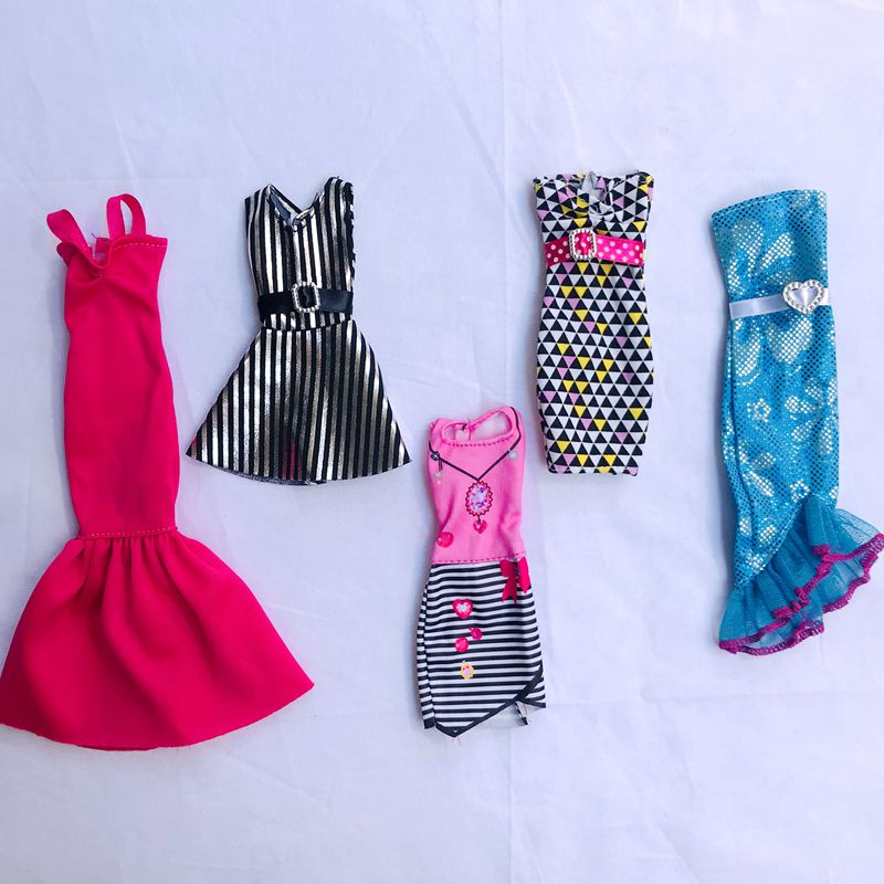 5 Items/ Lot Clothes For Barbie Game Wear Outfit Tops Pants 30 Cm Fashion Dress Miniature Accessories For Barbie DIY Gifts Girls