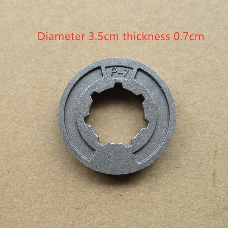 Piñón de embrague de llanta de motosierra 3/8 '7T para 0000 642 1240 MS250 MS250C MS260 rueda dentada estándar