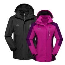 Outdoor Raincoat Jacket Men's And Women's Popular Brand Three-in-One Deconstructable Korean-Style Plus Velvet Thick Warm