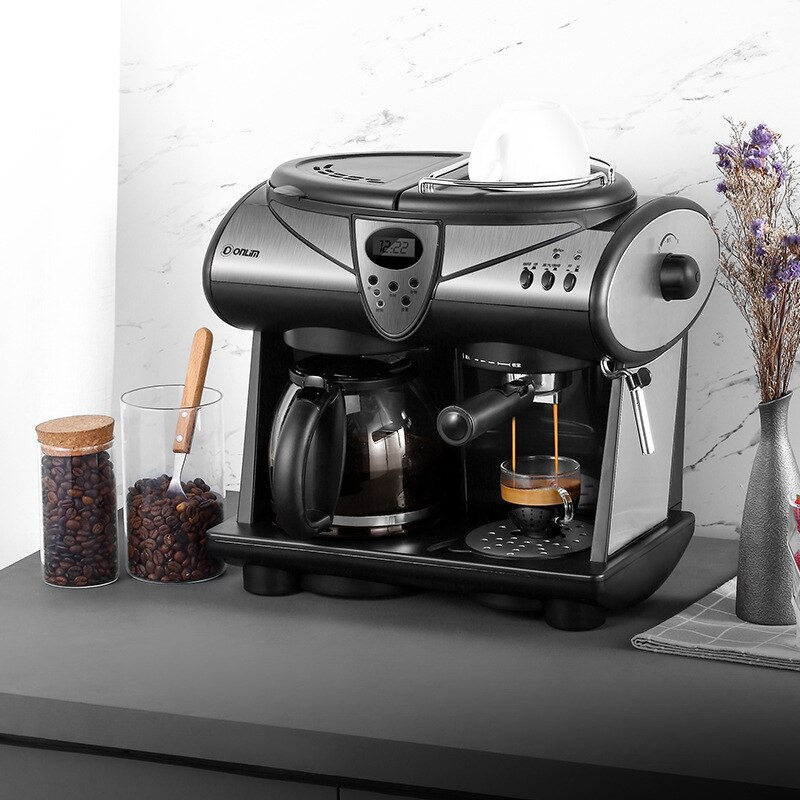 Italian-Style American-Style One-Piece Coffee Machine Household Commercial Constant Temperature Automatic Delivery Wholesale italian rugby style футболка