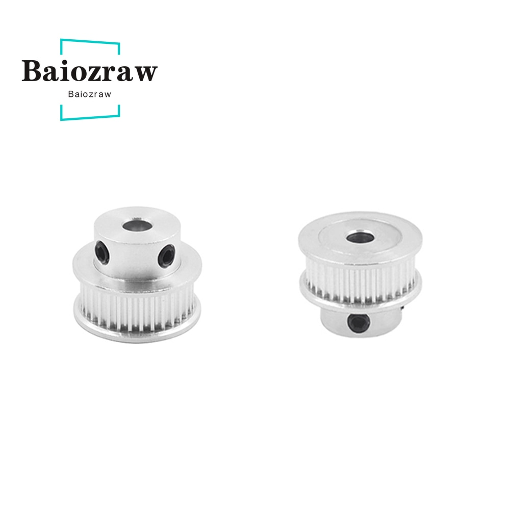 powge 30 teeth 2m 2gt timing pulley bore 5 6 6 35 7 8mm for 2mgt gt2 synchronous belt width 6 9mm small backlash 30teeth 30t 3D Printer Pulley Aluminum Timing Pulley 2GT 30teeth Bore 5/6/6.35/ 8mm Pulley Fit for 2GT Belt Width 6mm 10mm GT2 30T 1pcs