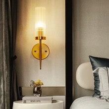 Moderne Loft salle à manger cristal applique murale rétro doré Noble hôtel Hall Villa applique murale Led étude lampe de chevet livraison gratuite