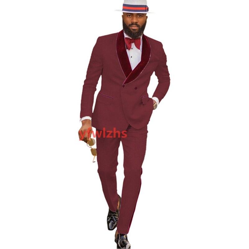 New Arrival Embossing Groomsmen Shawl Lapel Groom Tuxedos Men Suits Wedding/Prom Best Blazer ( Jacket+Pants+Tie) D10