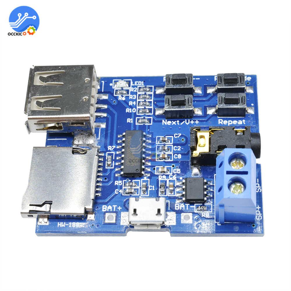 MP3 Decoder Audio USB TF Card 3.7-5.5V MP3 WMA Decoder Board Converter MP3 DAC Analizador Decoding