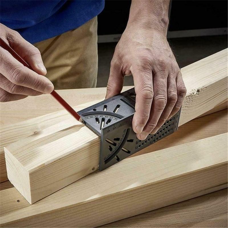木工定規3Dマイター角度測定ゲージ正方形サイズ測定ツール