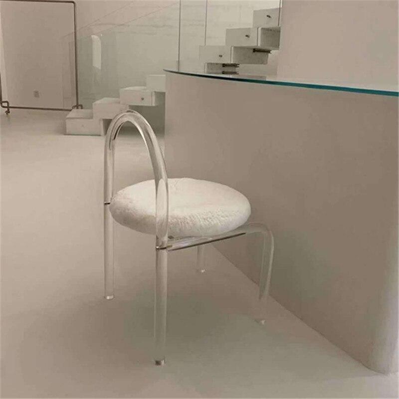 Zq الحديثة الحد الأدنى الطعام كرسي مع مسند الظهر واحد العضوية الزجاج السرير والإفطار المكياج كرسي