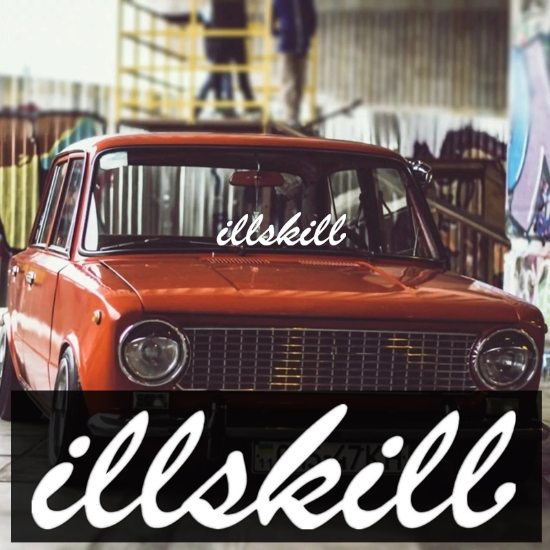 CS-1359# illskill funny car sticker vinyl decal silver/black for auto stickers styling