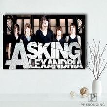 Custom Asking Alexandria Poster Home Decor Canvas Printing Silk Fabric Print Wall Poster No Frame 180317@51