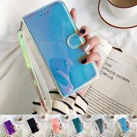 3D зеркальный кожаный чехол na для Samsung Galaxy A01 A11 A21 A31 A41 A51 A71 M30s M21 M31 Note 10 Lite Pro откидной Чехол для телефона с подставкой