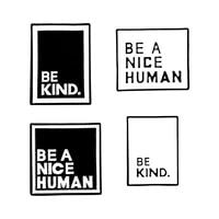 fashion be a nice human pin black white badge be kind enamel pins quote brooches for women men fashion jewelry slogan
