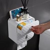 nail free traceless diamond shaped tissue box wall hanging pressing large capacity mobile phone drawer sundry storage bathroom