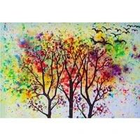 5D BRICOLAGE diamant peinture diamant rond complet  arbre  broderie point de croix decoration murale cadeau