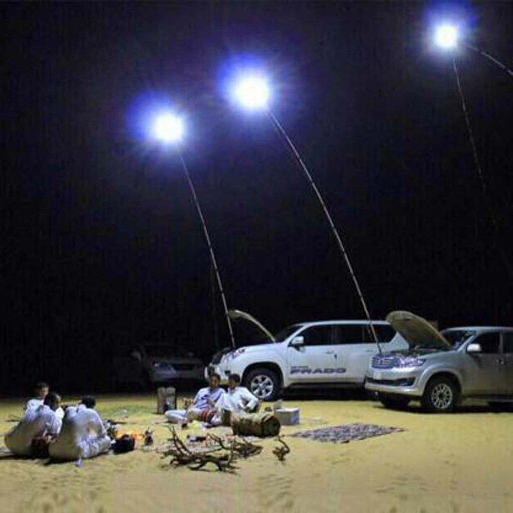 Cob telescópica Vara De Pesca Levou Ao Ar Livre Luz de Acampamento Caminhadas Churrasco Iluminação Temporária Luz Frontal Duplo Modo de Ajuste