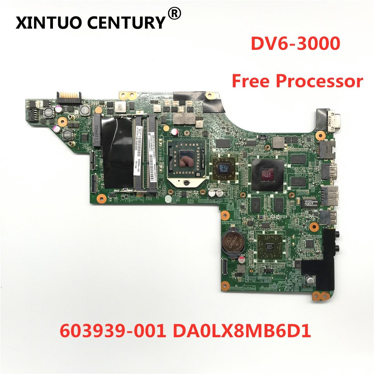 603939-001 DA0LX8MB6D1 اللوحة الرئيسية ل HP بافيليون DV6 DV6-3000 اللوحة الأم HD5650 1GB مع معالج مجاني 100% مجموعة كاملة