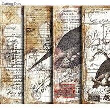 Matrices de coupe Journal indésirable oiseau forêt adhésif Scrapbooking papier autocollant pour cahier planificateur heureux bricolage artisanat en papier fait main