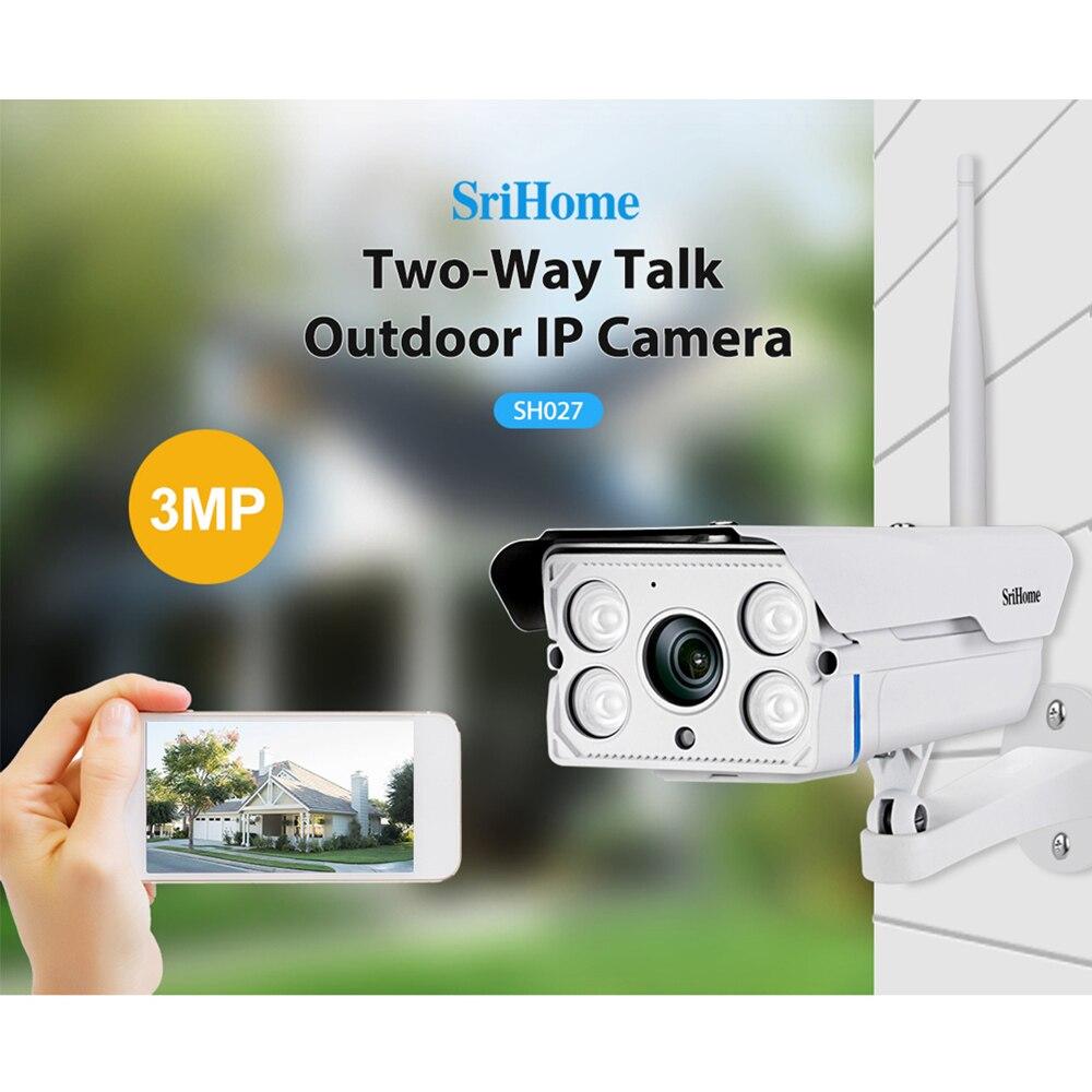 Sricam SH027 3,0 MP Wifi IP Kamera 5X Zoom Outdoor IP66 Wasserdichte H.265 Drahtlose CCTV Kamera Sicherheit Video Überwachung Kamera