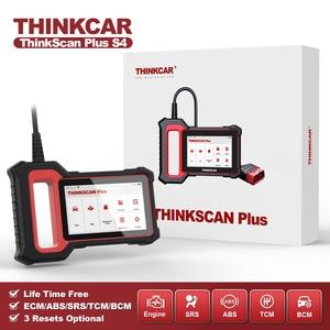 Image 1 - THINKCAR Thinkscan Plus S4 бессрочный, бесплатный, опциональный, 3 перезаправки, автомобильный диагностический инструмент ECM/TCM/ABS/SRS/BCM система, OBD2 автомобильный сканер