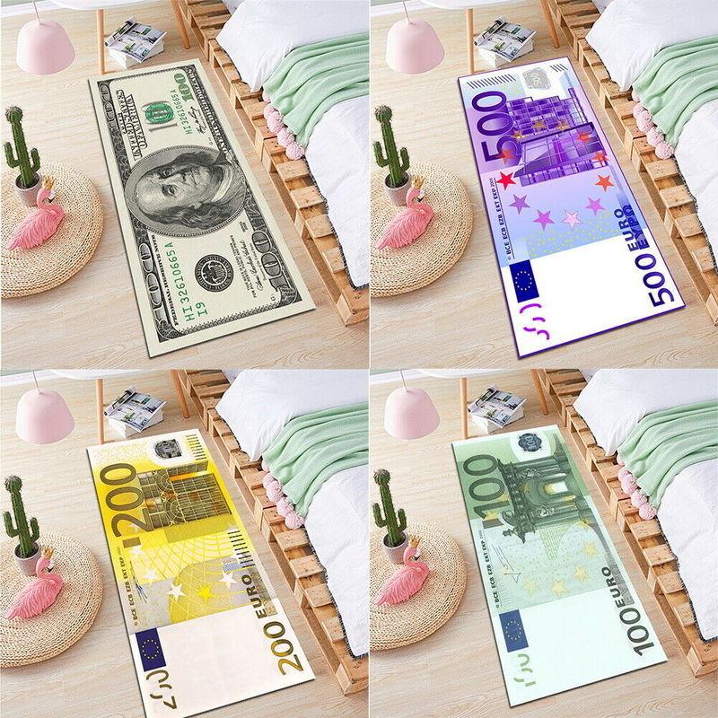 عدم الانزلاق السجاد الأوراق النقدية المال الدولار منطقة البساط ديكور المنزل الحصير لأرضية المطبخ