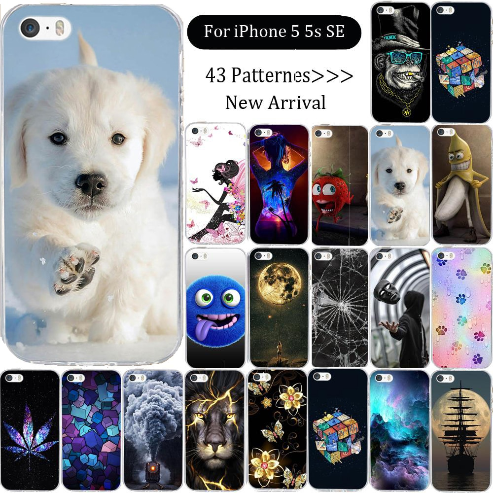 Funda para iPhone 5 5S SE, 5S funda de silicona para iPhone, funda de silicona suave, funda de teléfono para iphone 5