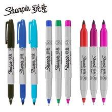 1 pièces Sharpie huile marqueurs marqueurs de couleur Art stylo Permanent couleur imperméable à leau Double tête bureau papeterie
