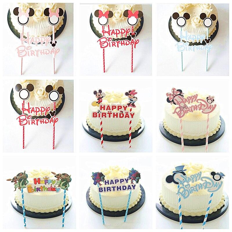 1 шт. Микки Минни Маус тема пирожное для дня рождения торт декоративные вывески Беби Шауэр детский день рождения товары для украшения торта