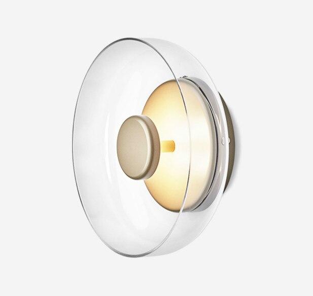 مصباح جداري Led زجاجي حديث ، مصباح معلق على الطراز الاسكندنافي ، مصباح بجانب السرير ، مثالي لغرفة المعيشة أو المطبخ.