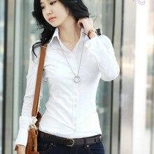 10XL Plus Size kobiet topy wiosna 2020 koreański biały bluzki Casual koszule damskie z długim rękawem czarne bluzki 5XL koszula bluzki damskie