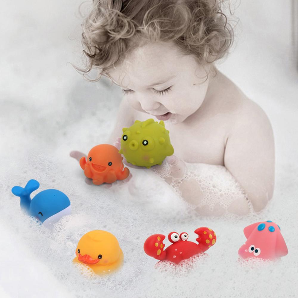 Brinquedos de banho de tubarão do bebê para a criança 6 pçs brinquedos de praia para crianças brinquedos de água de borracha macia animal brinquedos de jogo de água para crianças brinquedo de banheira