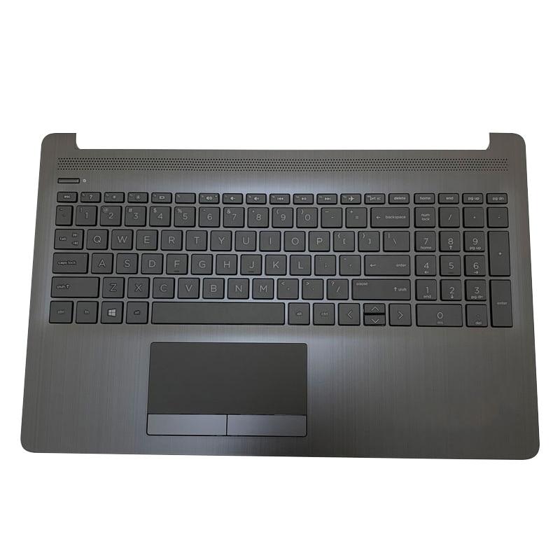 NEW Original For HP 15-DA 15-DB 15-DX 15G-DR 15Q-DS 250 255 256 G7 Laptop Palmrest Upper Case US Keyboard L20386-001 original new for hp 15 cs 15 cw series laptop palmrest upper case us backlit keyboard touchpad l24752 001 sliver