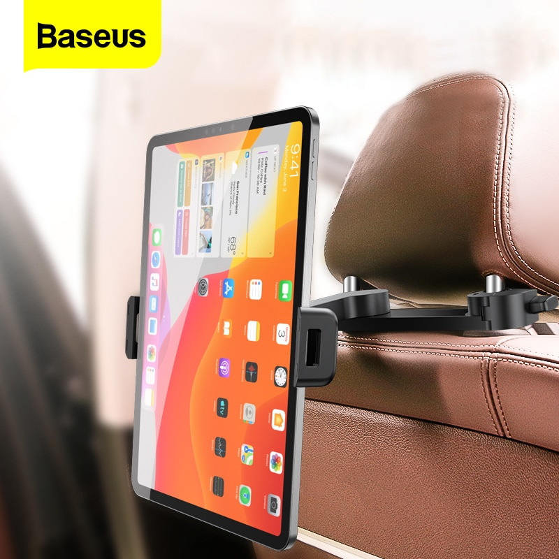 Baseus Car BackSeat Phone Holder Foldable Car Holder For iPad iPhone Samsung Tablet Universal Auto Back Seat Mount Stand Support