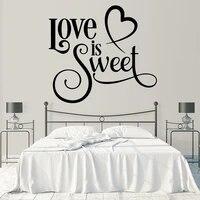 Autocollant Mural en vinyle impermeable Love Sweet  livraison directe  autocollant Mural pour chambres denfants  bricolage  decoration de maison  affiche murale