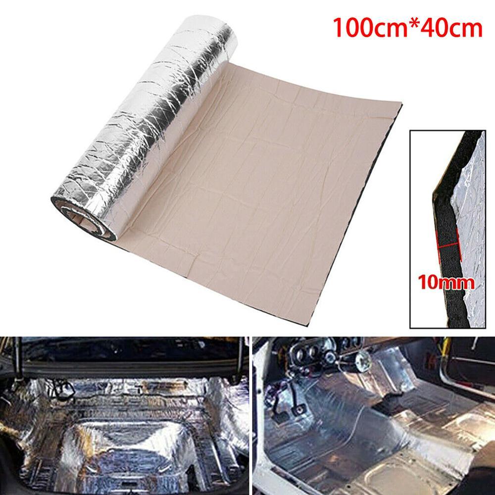 Samochód automatyczny dźwięk Proofing Deadening izolacja pojazdu pianka o zamkniętych komórkach dekoracja izolacja akustyczna wodoodporny dźwięk 100*40cm