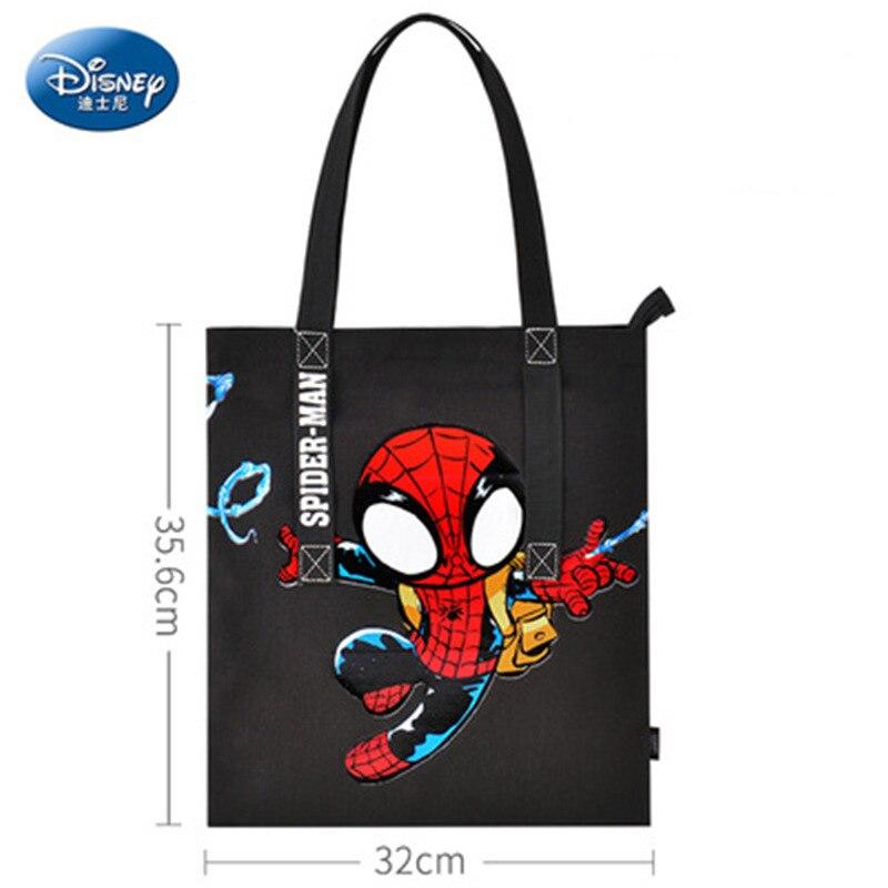 Дисней мультфильм холст сумка для учеников начальной и средней школы Человек-паук мультфильм сумка для хранения водонепроницаемая сумка