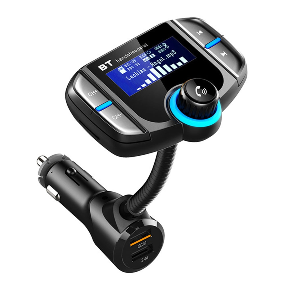Cargador BT70 Radio coche transmisor FM Kit inalámbrico Dual USB adaptador Bluetooth reproductor MP3