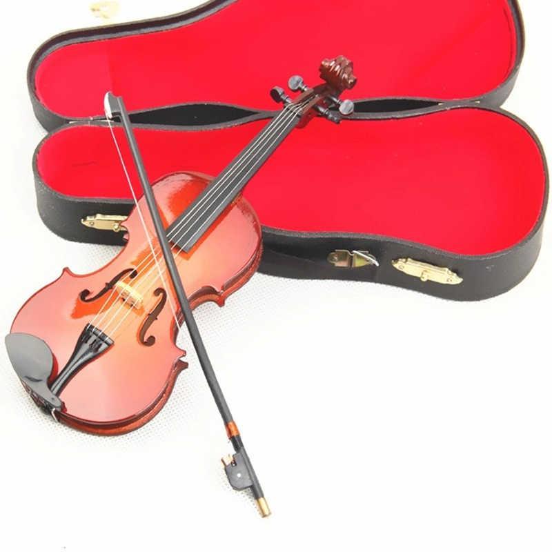 Réplica De Modelo De Violín En Miniatura Con Soporte Y Estuche Accesorios Para Casa De Muñecas Mini Ornamentos De Instrumento Musical Regalos De Navidad Figuras Y Miniaturas Aliexpress