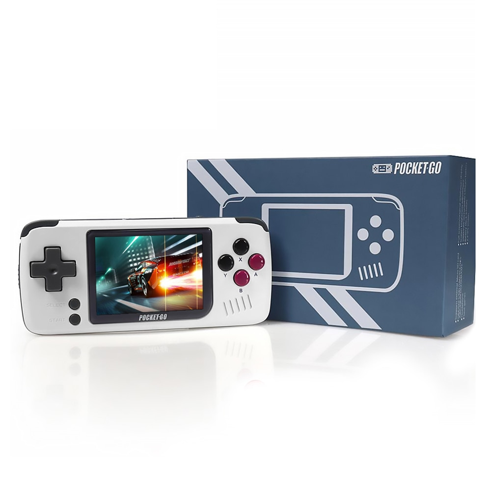 Pocket Go Handheld Games Console Allwinner F1C100S Linux Handheld Game Console 1000mAh Rechargeable Game Player Open Source