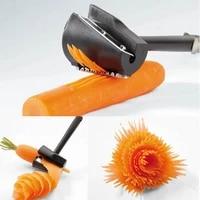 1pcs manual spiral slicers vegetable cutter plastic peeler fruits device cooking gadget kitchen roll flower decorative tool