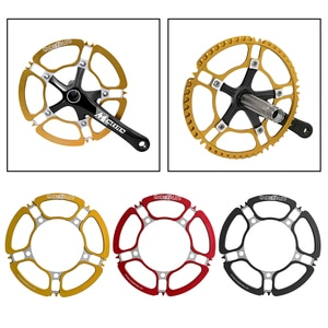 1 Piece MTB Road Bicycle Chainring Round Narrow Wide Single Chain Ring BCD 130mm 53T, Bike Replace Accessories